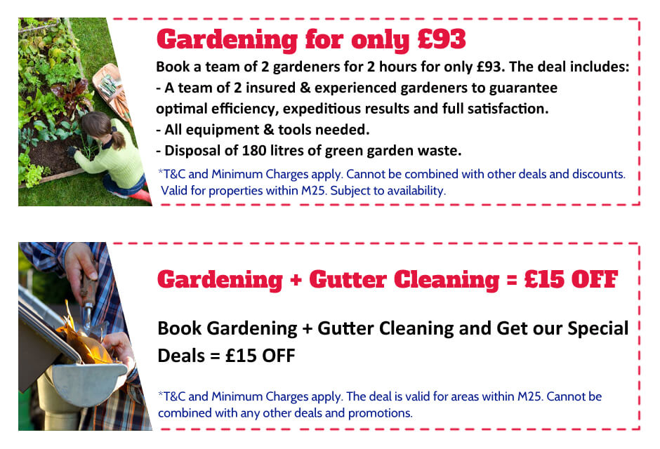 Gardeners Mill Hill Offer